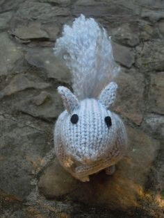 Ravelry: Knit One, Squirrel Two pattern by Sara Elizabeth Kellner...free pattern Would be cute with those felted acorns strewn about.