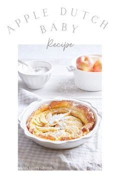 If you've had The Original House of Pancake's Apple Dutch Baby, then you'll love this recipe. It's an oven-baked pancake that's easy to make. Desserts For A Crowd, Apple Desserts, Great Desserts, Apple Recipes, Baby Food Recipes, Dessert Recipes, Original Pancake House, The Pancake House, Mini Apple Tarts