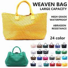 e7a827af56f   55.90 (▽89%)Weaven Bag Large Capacity Package Handbag Travel Gym Bag  Shoulder Bag Women Popularity Bag