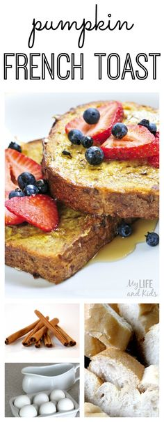 French toast - with a twist! This pumpkin french toast recipe will have your family begging for french toast every single morning - especially on crisp, fall mornings.