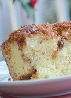 Brighten your morning..or afternoon with this Sour Cream Coffee Cake #recipe