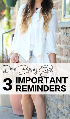 If you're a busy girl on the go, these 3 reminders might just save your life.