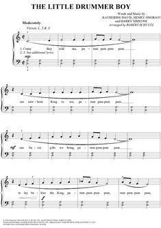 """Buy """"The Little Drummer Boy"""" Sheet Music for Easy Piano/Vocal Trumpet Sheet Music, Clarinet Sheet Music, Violin Music, Piano Songs, Free Flute Sheet Music, Free Printable Sheet Music, Guitar Songs, Music Music, Cello"""