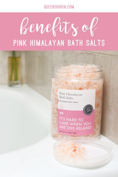 Benefits of Pink Himalayan Bath Salts Queen Shirin Makeup Swatches, Drugstore Makeup, Bath Benefits, Himalayan Salt Bath, Home Detox, Makeup Must Haves, Relaxing Bath, Bath Soak, Home Spa