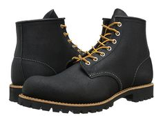 "Red Wing Heritage 6"" Round Toe Lug Black Spitfire - Zappos.com Free Shipping BOTH Ways"