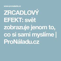 ZRCADLOVÝ EFEKT: svět zobrazuje jenom to, co si sami myslíme | ProNáladu.cz