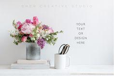 Mug Mockup, Floral Styled Image by Her Creative Studio on @creativemarket https://crmrkt.com/rkVMP