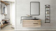 BATHROOM TRENDS | Linee nere e dettagli metallici per il bagno di tendenza