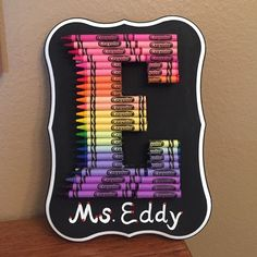 *custom* 3D crayon initial plaque! You choose the letter and colors! Great for kids rooms, playrooms, teacher appreciation week and end of the year gifts! This wood plaque could be displayed on a dresser or shelf. Other variations include framing, price depends on size. Please do not purchase this listing, let me know what letter you'd like, and once it's made, I will create a listing for you. Please allow 1-3 days for these to be handmade. Other