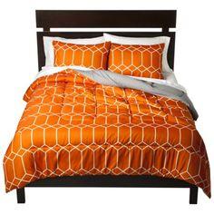 Orange comforter