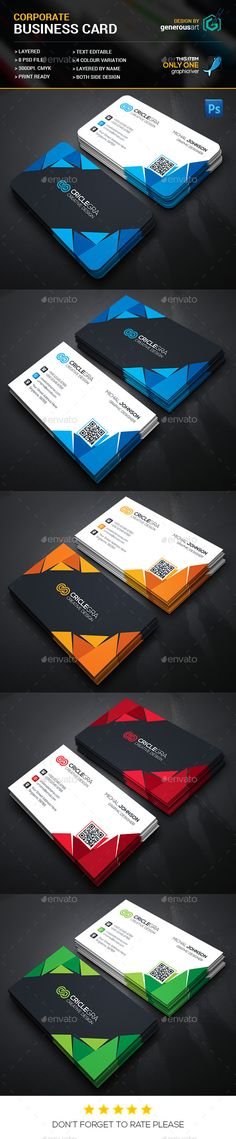 Creative Business Card — Photoshop PSD #black #print • Available here → https://graphicriver.net/item/creative-business-card/14623249?ref=pxcr