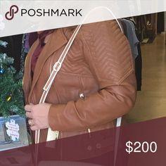 Michael Kors Leather Jacket Tan leather jacket Michael Kors Jackets & Coats