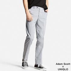 MEN Dry Stretch Trousers (Hounds Tooth)