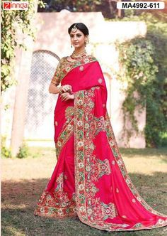Pink Color Georgette Saree  #Sarees #Fashion #Looking #Popular #Offers #Deals #Looking #fashionable #Zinnga #Zinngafashion #Trend  #Trending #Deal #Beautiful #Nice #Look
