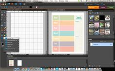 Weekly Schedule Template {Photoshop Elements Tutorial}