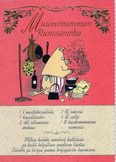 *collection - recipe card - Tracy Chen - Picasa Albums Web Old Recipes, Baking Recipes, Finnish Recipes, Tove Jansson, Baking With Kids, Fodmap Recipes, Orange Crush, Moomin, New Things To Learn
