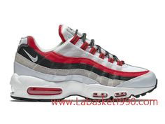 official photos d69ab 77ae1 Nike Air Max 95 Essential 749766 601 Chaussures Nike Prix Pas Cher Pour Homme  Blanc Rouge