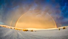 Double Rainbow at White Sands National Monument