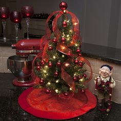 Table top tree - Perfect Christmas decor for small spaces or just to add color to every room