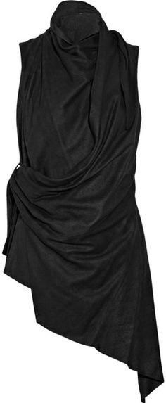 Rick Owens Sleeveless Leather Jacket