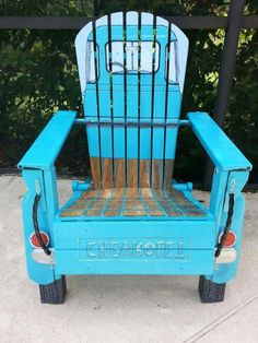 1950's Chevy pickup chair built by Phil Curren at www.philcurren.com