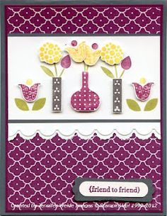 very cute Bright  Blossoms card
