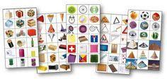Étiquettes pour le tri des formes géométriques
