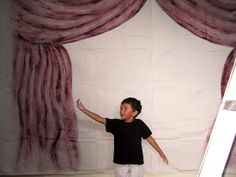 photo booth backdrop painted on a canvas drop cloth