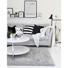 (227) I like the couch and the nautical theme with the pillows. This... ❤ liked on Polyvore featuring home and home decor