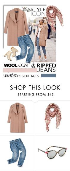 """""""Winter essentials"""" by pamela-802 ❤ liked on Polyvore featuring Rochas, Vince Camuto, Marc by Marc Jacobs, STELLA McCARTNEY, rippedjeans, woolcoat and winteressentials"""