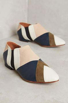 Luiza Perea Patchwork Ankle Booties