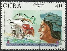 Sello: Bartolomëu Diaz (Cuba) (International Stamp Exhibition - Genova '92 (sailors)) Mi:CU 3606