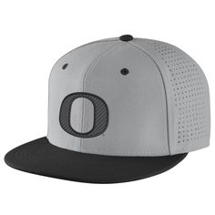 9e619a77bd290 Oregon Ducks Nike Vapor True College Authentic Baseball Fitted Performance  Hat - Gray Size 7 1