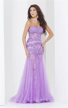tony bowls 2015 | 2015 Lilac Beaded Lace Tony Bowls 115752 Evening Gowns