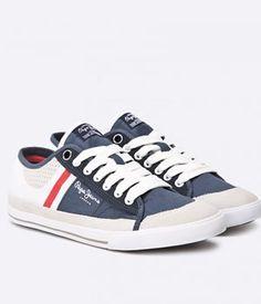 Tenisi Pepe Jeans Barbati Piele Cu Blugi   Cea mai buna oferta Pepe Jeans, Mai, Sneakers, Shoes, Fashion, Tennis, Men, Trainers, Moda