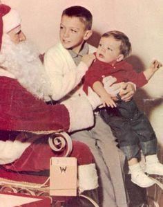 David and Shaun Cassidy visit Santa.