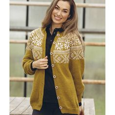 """1823-5 """"Frost""""-kofte Cardigan Design, Sweater Cardigan, Winter Outfits, Cool Outfits, Knit Crochet, Knitting Patterns, How To Wear, Clothes, Norway"""