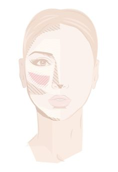 How to Highlight and contour a diamond shaped face