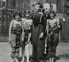 1930s MEN and WOMEN of CIRCUS in makeup and costume vintage photo | Flickr - Photo Sharing!