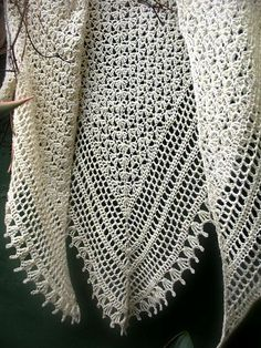 Gorgeous unique delicate and feminine crochet shawl PDF by 7Knits