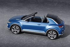 VW T-ROC concept 2014 roof off; targeted at buyers who don't necessarily want the increased footprint of an SUV, but value added practicality and a raised ride height.