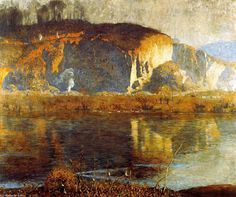 The Valley - (1) de Daniel Garber (1880-1958, United States)