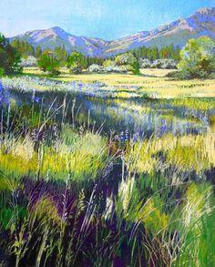 "Bonita Paulis Fine Art Lake Tahoe California Pastel Landscapes: 16"" x 20"" pastel paintings"