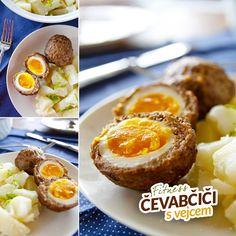 Fitness čevabčiči plněné vejcem - zdravý recept Bajola Baked Potato, Muffin, Potatoes, Eggs, Baking, Breakfast, Healthy, Ethnic Recipes, Fitness