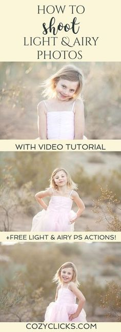 Easy tips for photographers to learn how to shoot light and airy photos. Learn how to take pictures that are light and airy here!