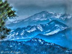 Pikes Peak 15March2014 Painting by MSchmidtPhotography.deviantart.com on @deviantART