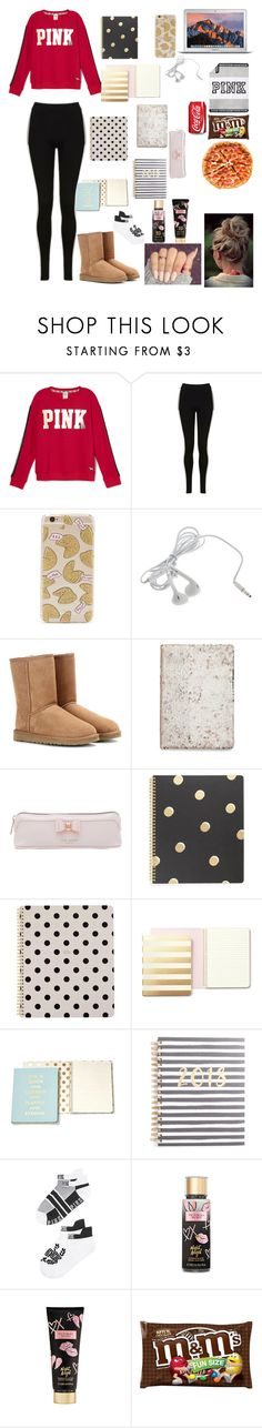 """""""what I should be doing"""" by nikinewman on Polyvore featuring Topshop, Forever 21, UGG Australia, Ted Baker, Kate Spade, Victoria's Secret and Victoria's Secret PINK"""
