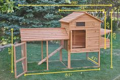 Backyard Chicken Coop DIY Build It Yourself Kit  by CoopSaloon