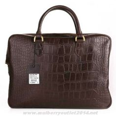 8e0dcf2957 Cheap Mulberry Mens Tony Printed Leather Laptop Briefcase Dark Coffee Sale  Online Mulberry Wallet, Mulberry