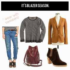 jillgg's good life (for less) | a style blog: How to style a blazer for fall!